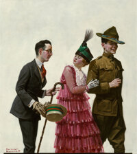 Norman Rockwell (American, 1894-1978) Excuse Me! (Soldier Escorting Woman), Judge Magazine Cover, July