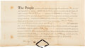 "Autographs:Statesmen, John Jay Document Signed, ""John Jay."" O..."