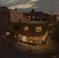 Paintings, Linden Frederick (American, b. 1953). Nightwork, 1998. Oil on canvas. 52-3/4 x 52-3/4 inches (134.0 x 134.0 cm). Signed ...