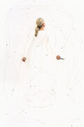 Photographs, Rachel Perry (American, 1962). Lost in My Life (fruit sticker drawing), 2013. Digital pigment. 55 x 36 inches (139.7 x 9...