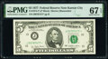 Small Size:Federal Reserve Notes, Fr. 1974-J* $5 1977 Federal Reserve Star Note. PMG Superb Gem Unc 67 EPQ.. ...