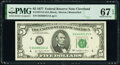 Small Size:Federal Reserve Notes, Fr. 1974-D $5 1977 Federal Reserve Note. PMG Superb Gem Unc 67 EPQ.. ...