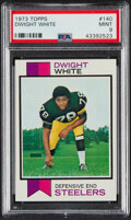 Football Cards:Singles (1970-Now), 1973 Topps Dwight White #140 PSA Mint 9....