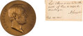 Autographs:U.S. Presidents, Abraham Lincoln Autograph Endorsement Signed with Medallion.... (Total: 2 Items)