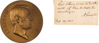 Abraham Lincoln Autograph Endorsement Signed with Medallion