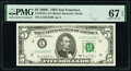 Small Size:Federal Reserve Notes, Fr. 1972-L $5 1969C Federal Reserve Note. PMG Superb Gem Unc 67 EPQ.. ...