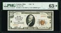 Canton, OH - $10 1929 Ty. 2 The First National Bank Ch. # 76 PMG Choice Uncirculated 63 EPQ*