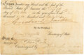 Autographs:U.S. Presidents, Andrew Jackson Partial Document Signed. One parti...