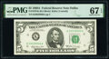Small Size:Federal Reserve Notes, Fr. 1970-K $5 1969A Federal Reserve Note. PMG Superb Gem Unc 67 EPQ.. ...