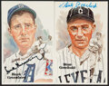 Autographs:Post Cards, Stan Coveleski & Hank Greenberg Single Signed Postcards, L...