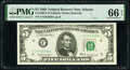 Small Size:Federal Reserve Notes, Fr. 1969-F; F* $5 1969 Federal Reserve Notes. PMG Graded Gem Uncirculated 66 EPQ; Superb Gem Unc 67 EPQ.. ... (Total: 2 notes)