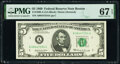 Small Size:Federal Reserve Notes, Fr. 1969-A $5 1969 Federal Reserve Note. PMG Superb Gem Unc 67 EPQ.. ...
