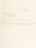 """Autographs:U.S. Presidents, Theodore Roosevelt Typed Letter Signed, """"T. Roo..."""