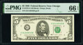 Small Size:Federal Reserve Notes, Fr. 1979-G $5 1988 Federal Reserve Note. PMG Gem Uncirculated 66 EPQ.. ...