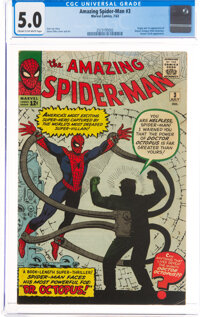 The Amazing Spider-Man #3 (Marvel, 1963) CGC VG/FN 5.0 Cream to off-white pages