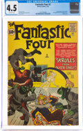 Silver Age (1956-1969):Superhero, Fantastic Four #2 (Marvel, 1962) CGC VG+ 4.5 Off-white pages....