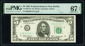 Small Size:Federal Reserve Notes, Fr. 1967-K* $5 1963 Federal Reserve Star Note. PMG Superb Gem Unc 67 EPQ.. ...
