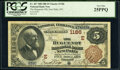 National Bank Notes:New York, New Paltz, NY - $5 1882 Brown Back Fr. 467 The Huguenot National Bank Ch. # 1186 PCGS Very Fine 25PPQ.. ...