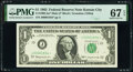 Small Size:Federal Reserve Notes, Low Serial Number 1834 Fr. 1900-J* $1 1963 Mule Federal Reserve Star Note. PMG Superb Gem Unc 67 EPQ.. ...