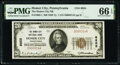 Homer City, PA - $20 1929 Ty. 1 The Homer City National Bank Ch. # 8855 PMG Gem Uncirculated 66 EPQ