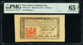 Colonial Notes:New Jersey, John Hart Signed New Jersey March 25, 1776 18d PMG Gem Uncirculated 65 EPQ.. ...
