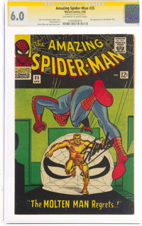 The Amazing Spider-Man #35 Signature Series: Stan Lee (Marvel, 1966) CGC FN 6.0 Off-white to white pages