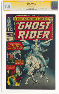 The Ghost Rider #1 Signature Series: Stan Lee (Marvel, 1967) CGC VF- 7.5 Off-white pages