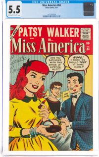 Miss America Magazine #84 (Atlas, 1957) CGC FN- 5.5 Off-white to white pages