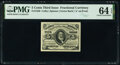Fractional Currency:Third Issue, Fr. 1239 5¢ Third Issue PMG Choice Uncirculated 64 EPQ.. ...