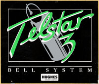Space Shuttle Discovery (STS-51-G) Flown Telstar 3 Sticker Originally from the Personal Coll
