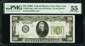 Fr. 2052-B $20 1928B Light Green Seal Federal Reserve Note. PMG About Uncirculated 55
