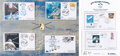 Explorers:Space Exploration, ATV George Lemaître Flown Ariane 5 + Dragon SPX-5 Cover in Limited Edition Presentation with Five Related Unflown Covers.... (Total: 2 )
