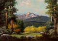 Paintings, Robert William Wood (American, 1889-1979). Mountain Reverie. Oil on canvas. 24 x 35 inches (61.0 x 8...