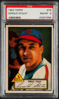 Baseball Cards:Singles (1950-1959), 1952 Topps Gerald Staley (Red Back) #79 PSA NM-MT 8....