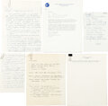 Explorers:Space Exploration, Apollo-Soyuz Test Project Crew Selection: Archive of Internal Material Including Detailed Handwritten Documents from Deke Slay...