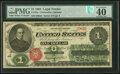 Large Size:Legal Tender Notes, Fr. 16a $1 1862 Legal Tender PMG Extremely Fine 40 EPQ.. ...