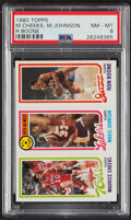 Basketball Cards:Singles (1980-Now), 1980 Topps Cheeks/Johnson AS/Boone PSA NM-MT 8. ...
