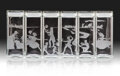 Prints & Multiples, Kara Walker (b. 1969). Canisters, 1997. Etched glass. 11-1/4 x 25-1/4 x 4 inches (28.6 x 64.1 x 10.2 cm) (overall). Edit... (Total: 6 Items)