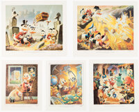 Carl Barks Lithographic Suite of Preliminary Paintings Group of 10 #153/500 (Walt Disney, 1986).... (Total: 13 )
