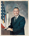"""Explorers:Space Exploration, Gus Grissom Signed """"Business Suit"""" Color Photo, with Zarelli Letter of Authenticity...."""