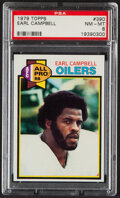 Football Cards:Singles (1970-Now), 1979 Topps Earl Campbell #390 PSA NM-MT 8....