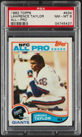 Football Cards:Singles (1970-Now), 1982 Topps Lawrence Taylor #434 PSA NM-MT 8....