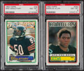 Football Cards:Lots, 1983 Topps Mike Singletary & Marcus Allen PSA Graded Rooki...