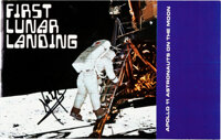 """Neil Armstrong Signed """"First Lunar Landing"""" Color Brochure from Monogram Models, with Zarelli Letter of Authen..."""