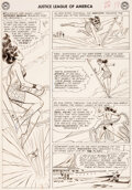 Original Comic Art:Story Page, Mike Sekowsky and Bernard Sachs Justice Leag...