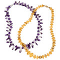 Estate Jewelry:Necklaces, Amethyst, Citrine, Gold, Yellow Metal Necklaces. ... (Total: 2 Items)