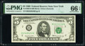Small Size:Federal Reserve Notes, Fr. 1969-B $5 1969 Federal Reserve Note. PMG Gem Uncircula...