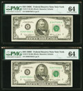Fr. 2117-B $50 1969C Federal Reserve Notes. Five Consecutive Examples. PMG Choice Uncirculated 64. ... (Total: 5)