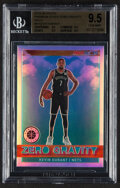 Basketball Cards:Singles (1980-Now), 2019-20 Hoops Premium Stock Kevin Durant (Zero Gravity Holo) #9 BGS Gem Mint 9.5....
