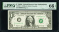 Small Size:Federal Reserve Notes, Low Serial Number 613 Fr. 1905-C $1 1969B Federal Reserve Note. PMG Gem Uncirculated 66 EPQ.. ...